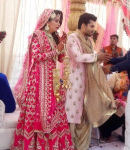 हमीरपुर-टीवी सीरियल ससुराल सिमर की जोड़ी शादी के बंधन में बंधी