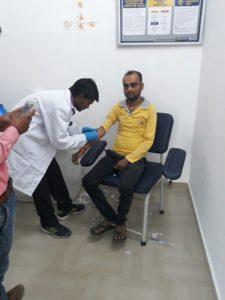 उरई में पैथकाइंड लैब द्वारा आयोजित किया गया निशुल्क जांच कैंप