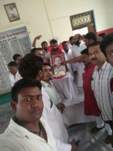 धूमधाम से मनाया गया पूर्व मुख्यमंत्री अखिलेश यादव का जन्मदिन