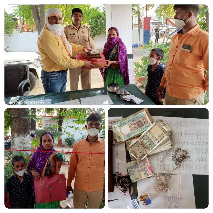 जालौन-माधौगढ़ पुलिस ने किया सराहनीय कार्य।