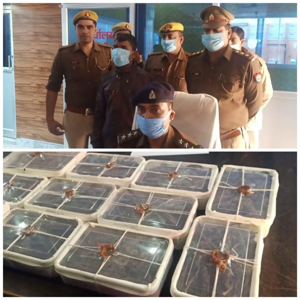 जालौन- 53 किलो गांजा के साथ एक गाजा तस्कर को पुलिस ने किया गिरफ्तार।