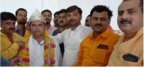 विकासखंड जालौन के निर्विरोध ब्लाक प्रमुख बने रामराजा निरंजन।